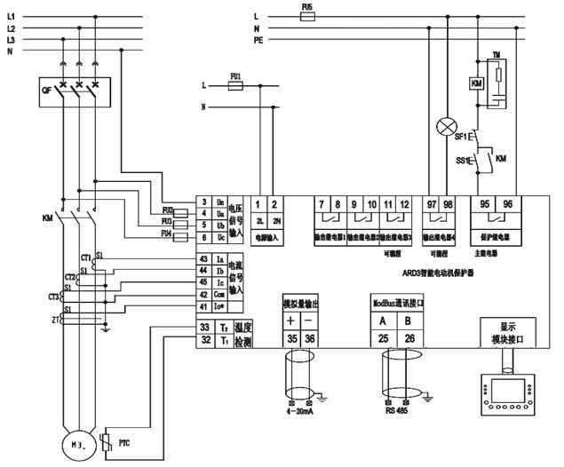 按下启动按钮ss1,线圈得电时,对应主电路常开触点闭合,控制电动机起动