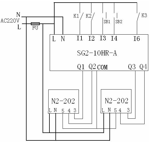 根据内圆磨床的工作原理及控制复杂程度,选择台安智能继电器sg2-10hr