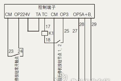 欧瑞变频器控制端子接线图